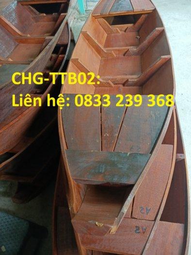 Thuyền gỗ trưng bày hải sản, Thuyền gỗ trang trí nhà hàng1