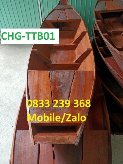 Thuyền gỗ trưng bày hải sản, Thuyền gỗ trang trí nhà hàng0
