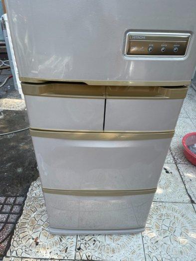 Tủ lạnh Hitachi 5 cánh 415 L, tiết kiệm điện, R600a, màu nâu, còn mới >90%11