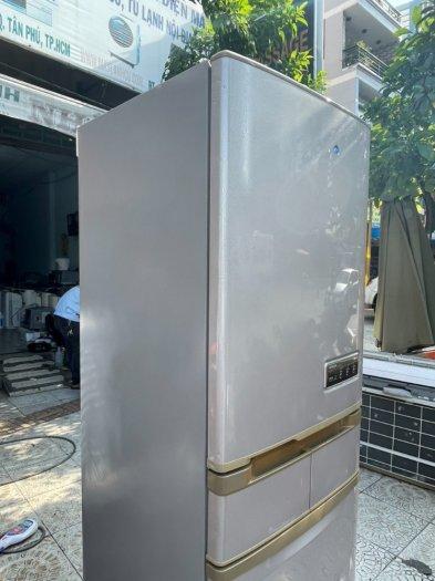 Tủ lạnh Hitachi 5 cánh 415 L, tiết kiệm điện, R600a, màu nâu, còn mới >90%9