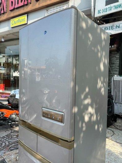 Tủ lạnh Hitachi 5 cánh 415 L, tiết kiệm điện, R600a, màu nâu, còn mới >90%7