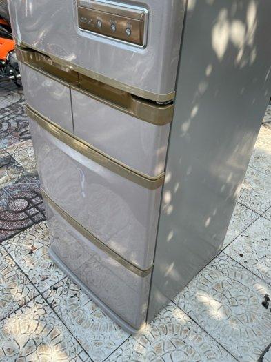 Tủ lạnh Hitachi 5 cánh 415 L, tiết kiệm điện, R600a, màu nâu, còn mới >90%5