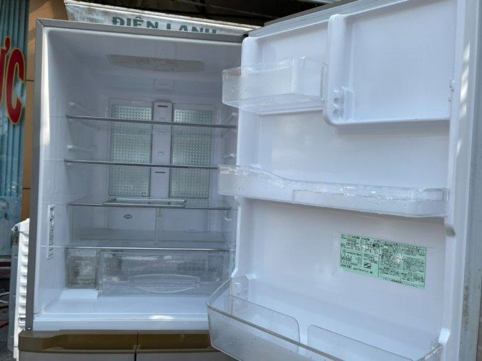 Tủ lạnh Hitachi 5 cánh 415 L, tiết kiệm điện, R600a, màu nâu, còn mới >90%4