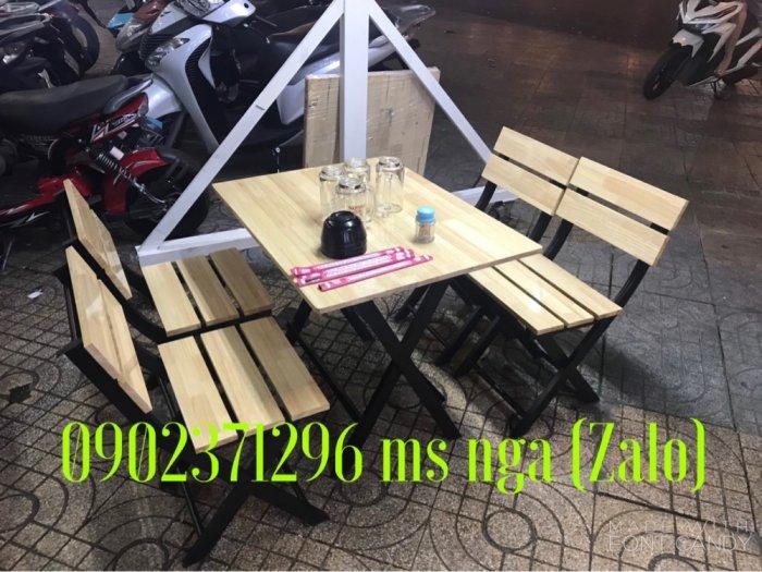 Bàn ghế gỗ xếp quán nhậu giá rẻ tại nội thất Nguyễn hoàng0