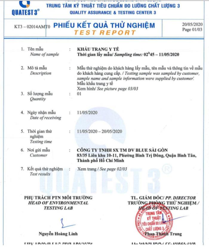 Khẩu trang Blue Saigon Face Mask  - combo 5 hộp 199k5