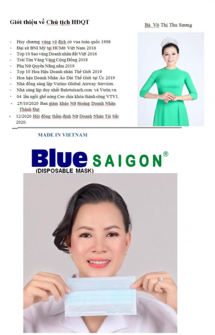 Khẩu trang Blue Saigon Face Mask  - combo 5 hộp 199k7