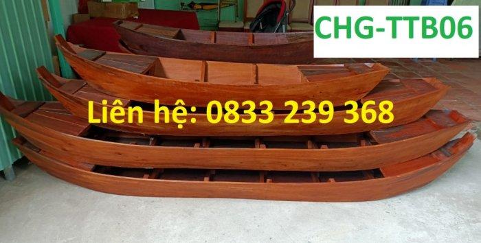 Thuyền trang trí nhà hàng, thuyền bày hải sản, Thuyền gỗ 2m, 3m4