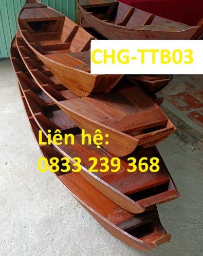 Thuyền trang trí nhà hàng, thuyền bày hải sản, Thuyền gỗ 2m, 3m3