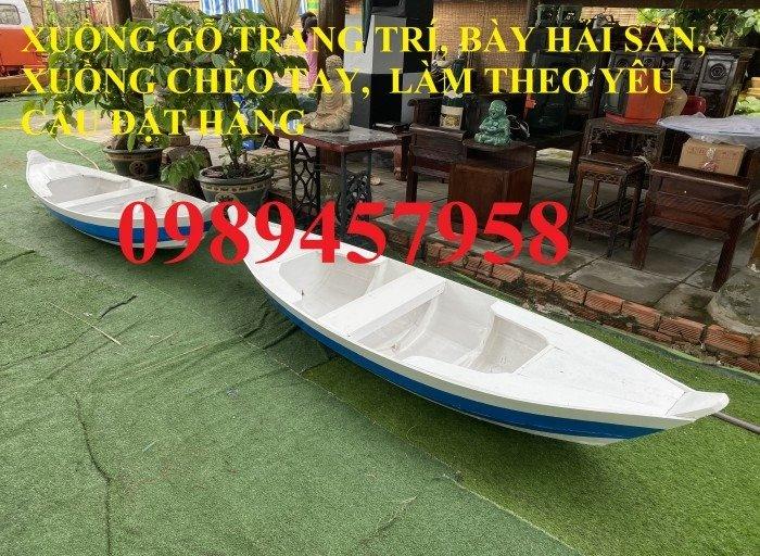 Thuyền trang trí nhà hàng, thuyền bày hải sản, Thuyền gỗ 2m, 3m0