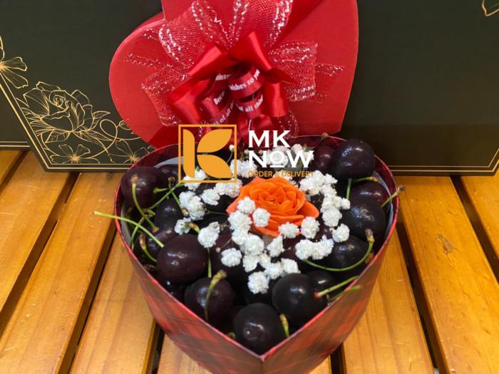 Hộp quà Valentine 14/2 Cherry trái tim - FSNK2101