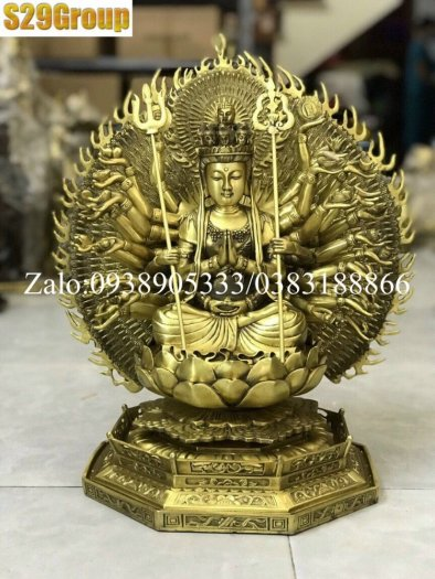 Thiên Thủ Thiên Nhãn bằng đồng cao 42cm2