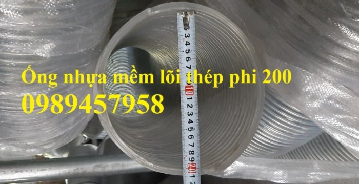 Ống nhựa hút nước lõi thép phi 200, Ống hút nước phi 100, phi 80, phi 60, phi 50 Ống Hàn Quốc2