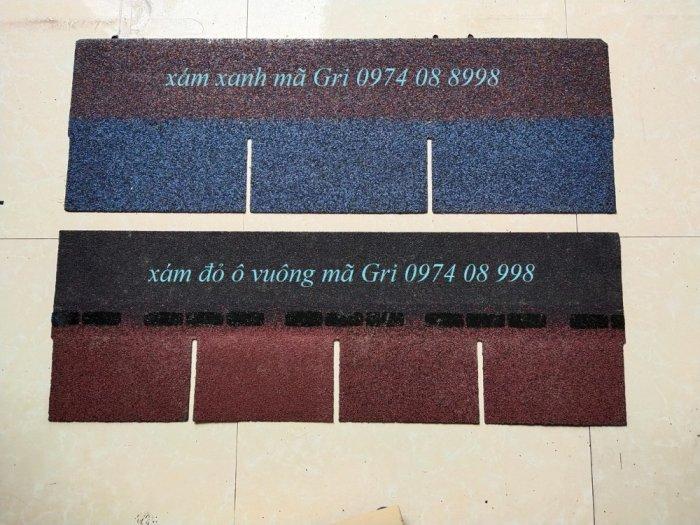 Tấm lợp bitum kiểu dáng hình chữ nhật màu xanh2