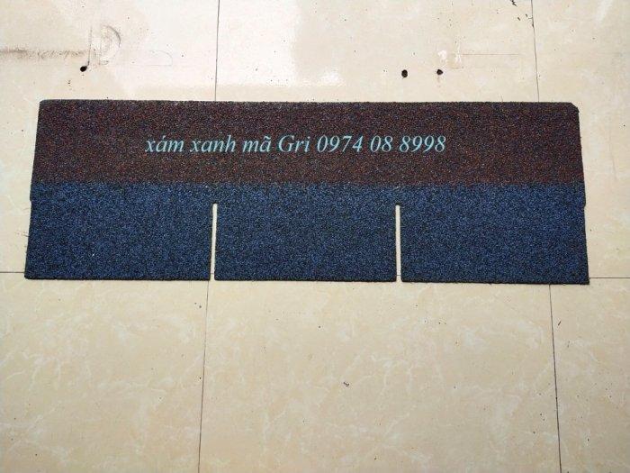 Tấm lợp bitum kiểu dáng hình chữ nhật màu xanh1