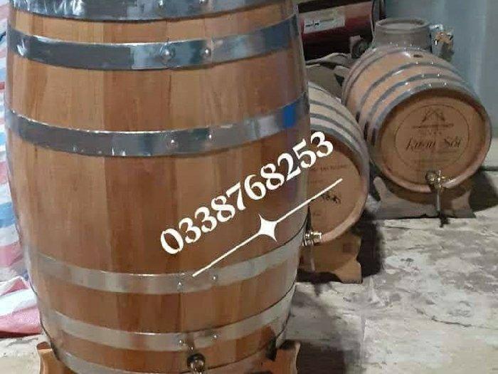 Thùng Ngâm Ủ Rượu Gỗ Sồi 200 lít.0