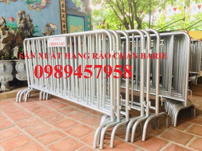 Rào chắn cây xăng 1mx2m, Hàng rào di động có bánh xe và sơn phản quang5