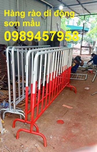 Gia công hàng rào cách ly, hàng rào barie có chốt, Hàng rào phân luồng giao thông7