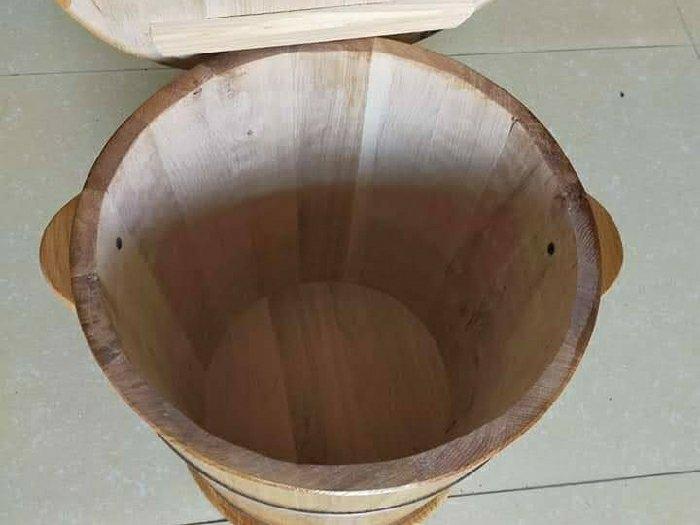 Thùng gỗ Sồi đựng gạo  10 kg.0