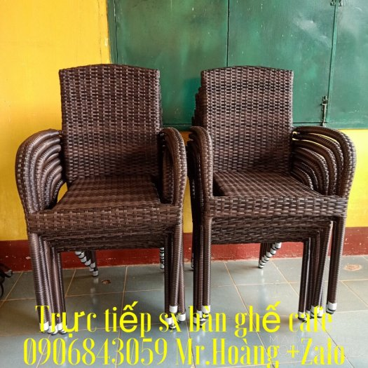 Thanh lý ghế nhựa mây xuất khẩu mới 99%- Nội Thất Nguyễn hoàng1