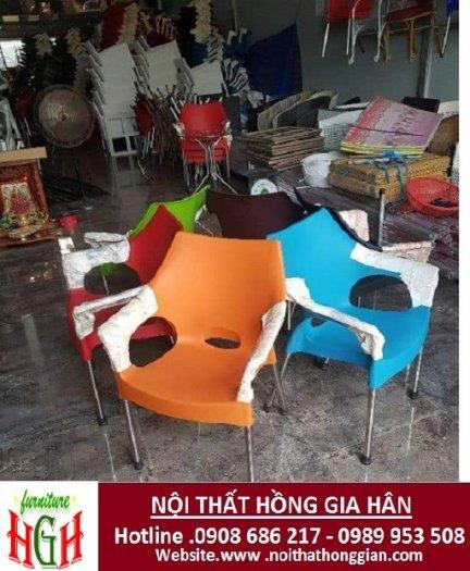 Ghế nhựa cafe giá rẻ nhất HGH .01