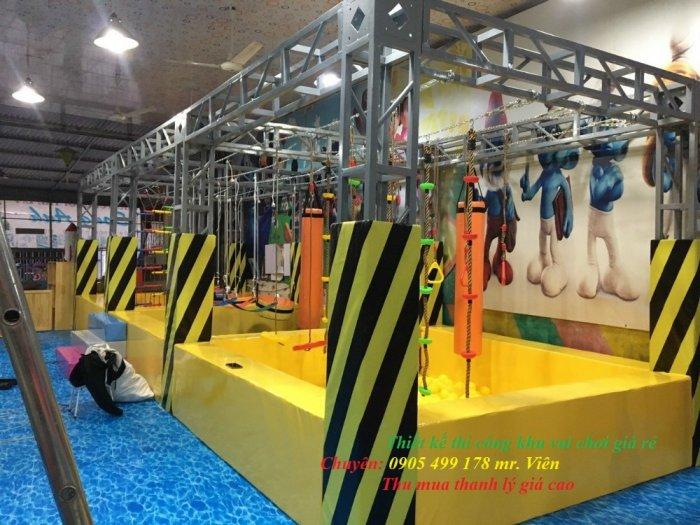 Nhận thi công - lắp đặt khu vận động liên hoàn sasuke cho trẻ em4