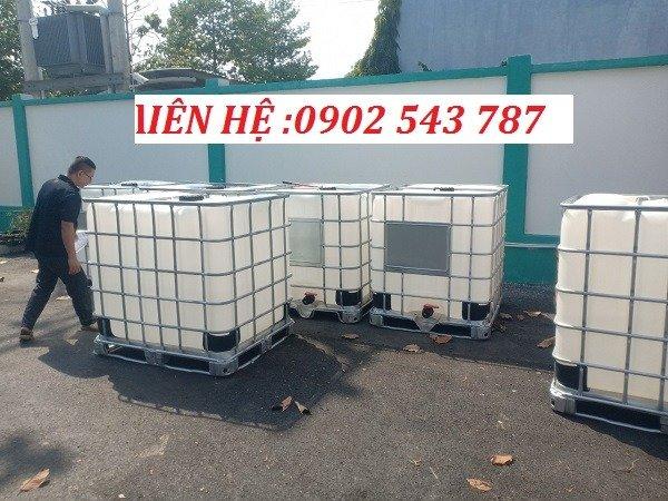 Tank nhựa IBC 1000 lít hàng combo chất lượng tốt0