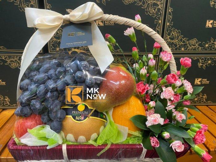 Lẵng trái cây và hoa tươi - FSNK2240
