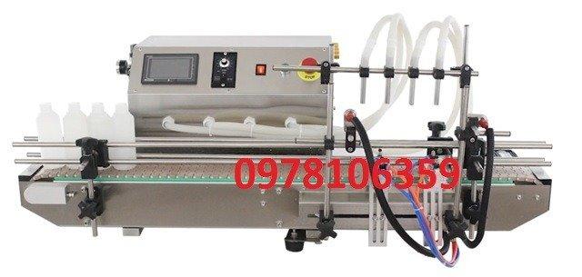 Máy chiết rót dịch lỏng tự động 4 vòi chiết, máy chiết rót tự động để bàn TLFM-120A0