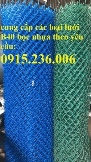 Lưới B40, Lưới B40 bọc nhựa, lưới B40 mạ kẽm mới 100%0