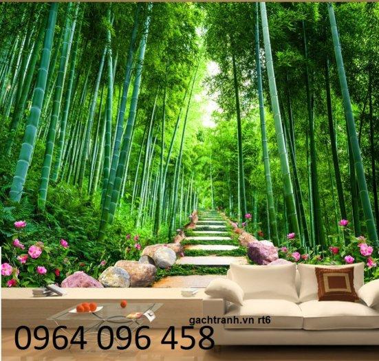 Tranh 3d - tranh gạch 3d phòng khách - SK855