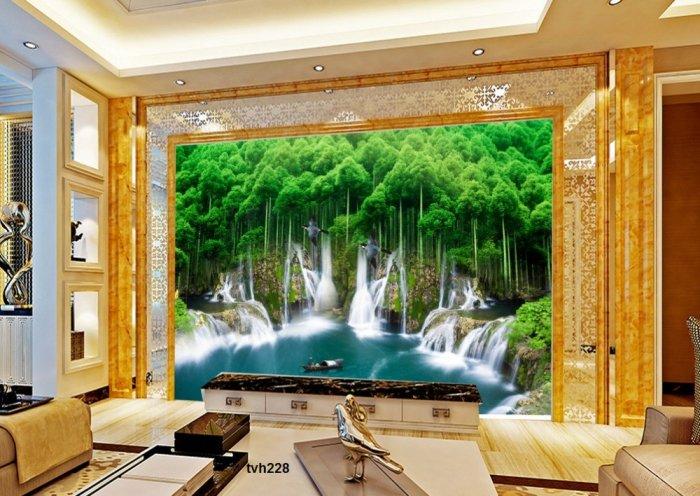 Tranh 3d - tranh gạch 3d phòng khách - SK850