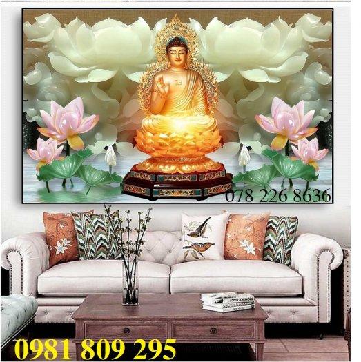Tranh Phật - gạch tranh 3d ốp tường2