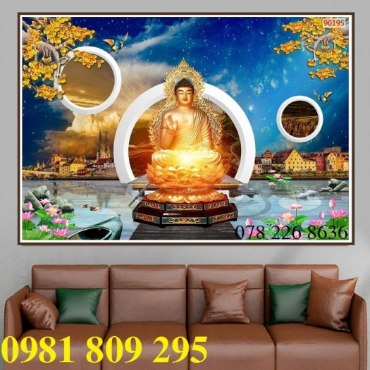 Tranh Phật - gạch tranh 3d ốp tường0