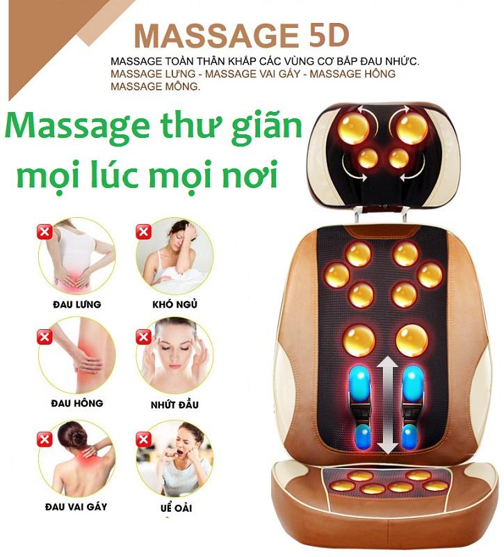 Ghế massage giảm đau toàn thân Hàn Quốc Ayosun thế hệ mới nhất hiện nay,ghế massage theo huyệt đạo1
