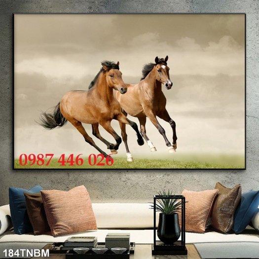 Tranh ngựa, gach tranh bát mã HP82326