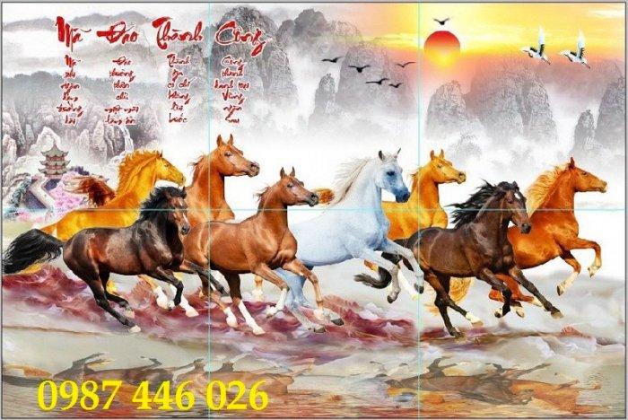 Tranh ngựa, gach tranh bát mã HP82325