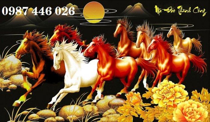 Tranh ngựa, gach tranh bát mã HP82320