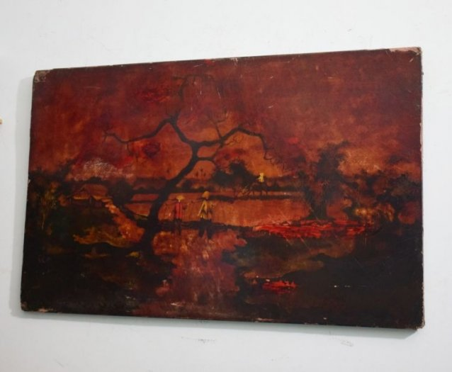 Tranh sơn mài xưa kích thước 50x80cm4