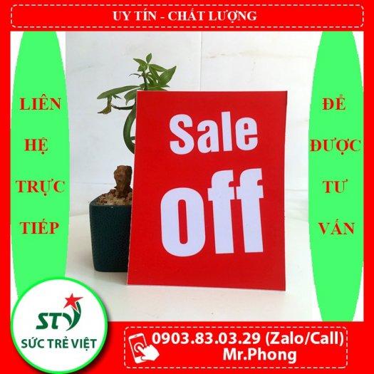Bảng sale off, bảng đồng giá, bảng khuyến mãi, bảng giảm giá, bảng hạ giá, bảng ghi giá, bảng sale0