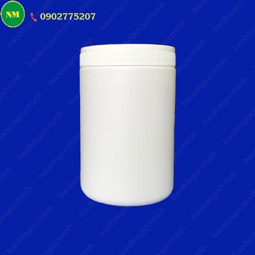 Hình hộp nắp vặn đựng bột, hủ nhựa hdpe 500gr - hủ nhựa 1kg đựng tinh bột nghệ, bột gạo, hủ nhựa đựng dung môi.13