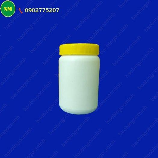 Hình hộp nắp vặn đựng bột, hủ nhựa hdpe 500gr - hủ nhựa 1kg đựng tinh bột nghệ, bột gạo, hủ nhựa đựng dung môi.10