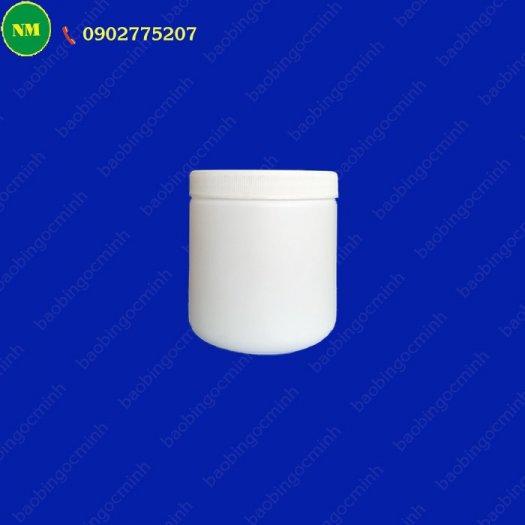Hình hộp nắp vặn đựng bột, hủ nhựa hdpe 500gr - hủ nhựa 1kg đựng tinh bột nghệ, bột gạo, hủ nhựa đựng dung môi.8