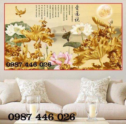 Tranh hoa sen, gạch ốp tường, tranh trang trí Hp602023