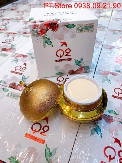 Kem dưỡng trắng da Q2 Collagen vàng2