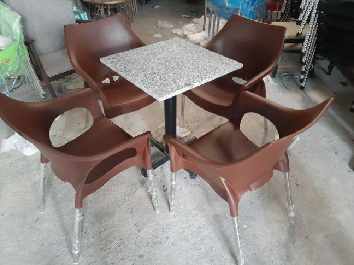 Bàn ghế cafe vi sa inox cao cấp 304 giá0