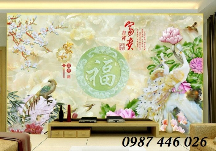 Tranh gạch men ốp tường 3d, tranh trang trí, gach hoa văn HP70227