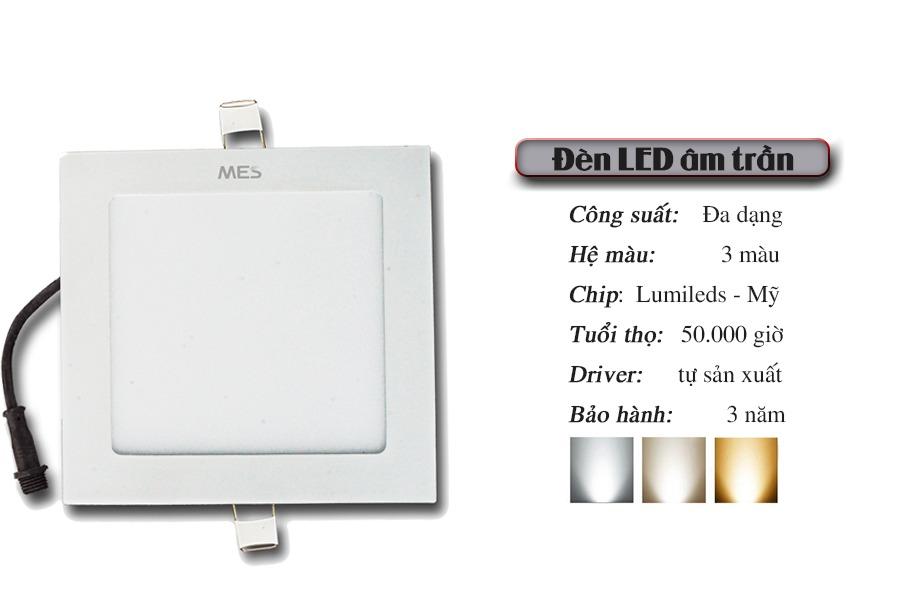 Đèn Led Panel âm trần 16w vuông cao cấp1