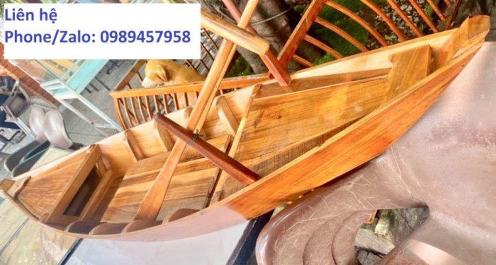 Thuyền gỗ 3m trưng bày, trang trí2