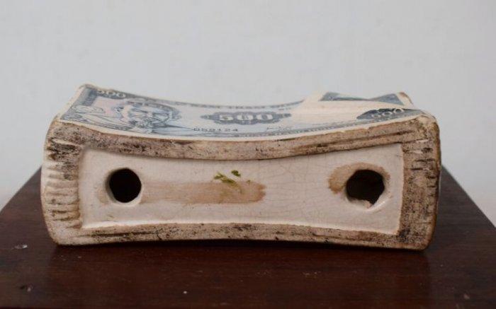 Gạt tàn ngân hàng tín nghĩa trước 1975 hàng chuẩn xưa số đẹp3