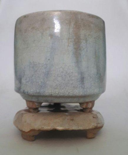 Bát nhang bạch định gốm Lái Thiêu xưa trọn bộ cao 13cm, đk 10.5cm5